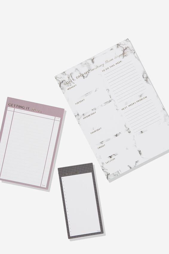 Notepad 3Pk, MARBLE COMBO