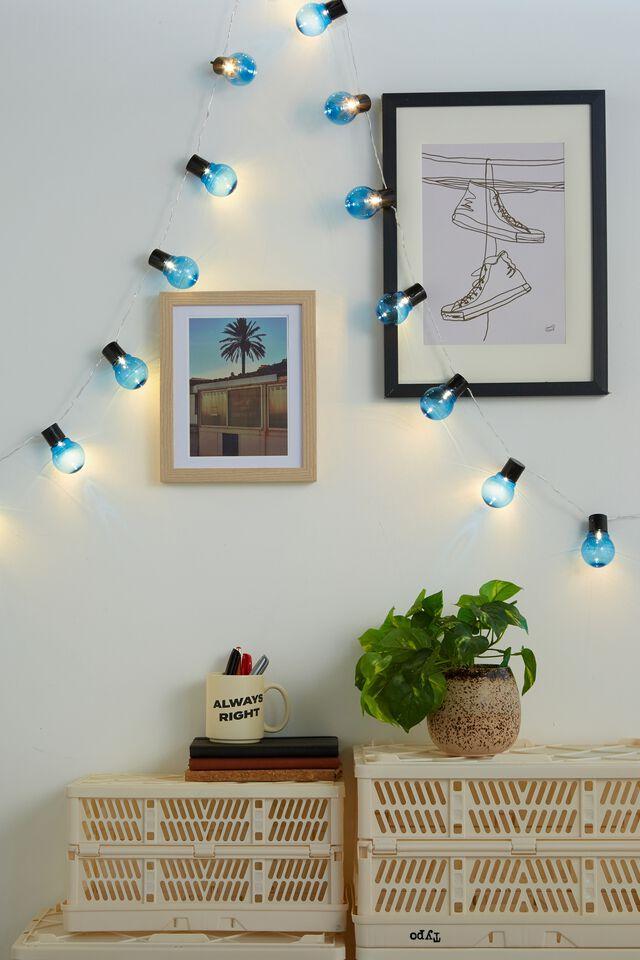 Usb Festoon String Lights 20L, BLUE BULBS