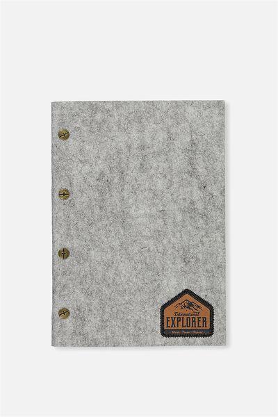 Vintage A5 Notebook, GREY MARLE