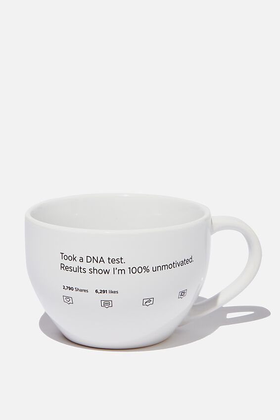 Big Mouth Mug, DNA TEST