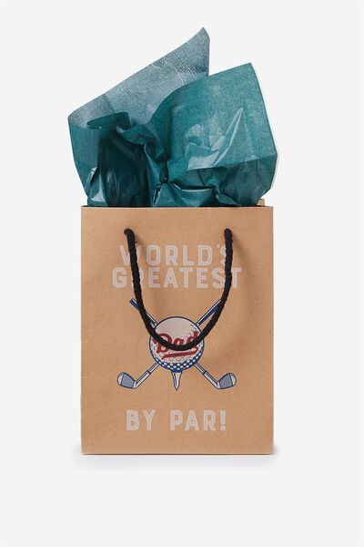 Stuff It Gift Bag Small With Tissue Paper, DAD BY PAR