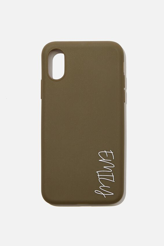 Recycled X, Xs iPhone Case Personalised, OILSKIN