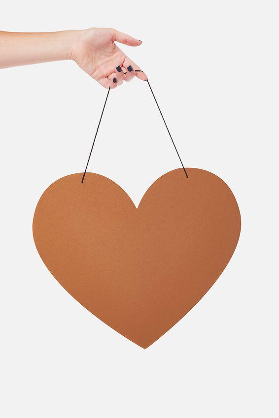 Acrylic Board, ROSE GOLD HEART