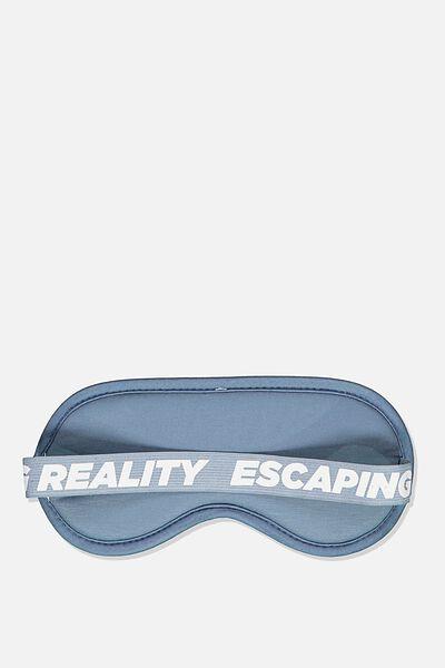 Premium Sleep Eye Mask, BLUE ESCAPING REALITY