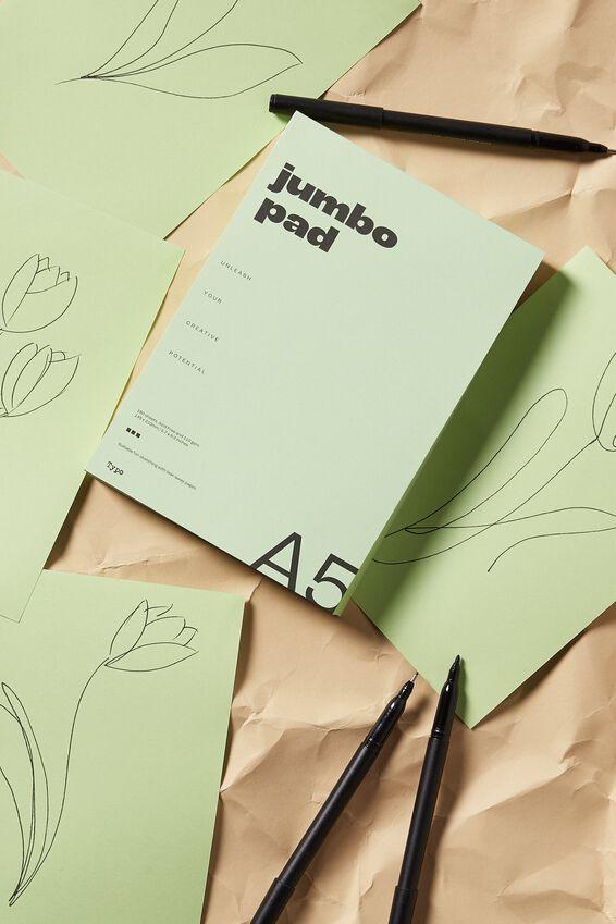 A5 Clean Slate Scribbler, SOFT GREEN