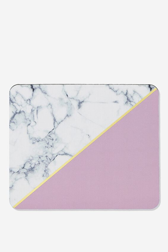 Neoprene Mouse Pad, PURPLE MARBLE SPLICE