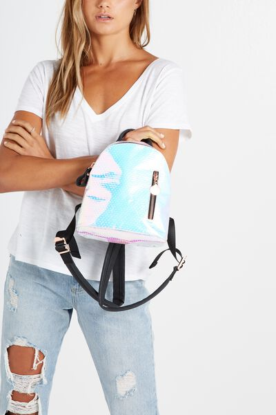 Santa Fe Backpack, IRIDESCENT POLKA