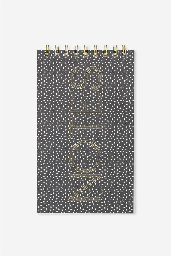 Flip Out Notepad 200Pgs, BLACK SPOT NOTES