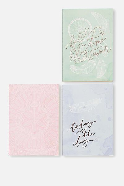 3Pk A6 Notebooks, DREAMCATCHER