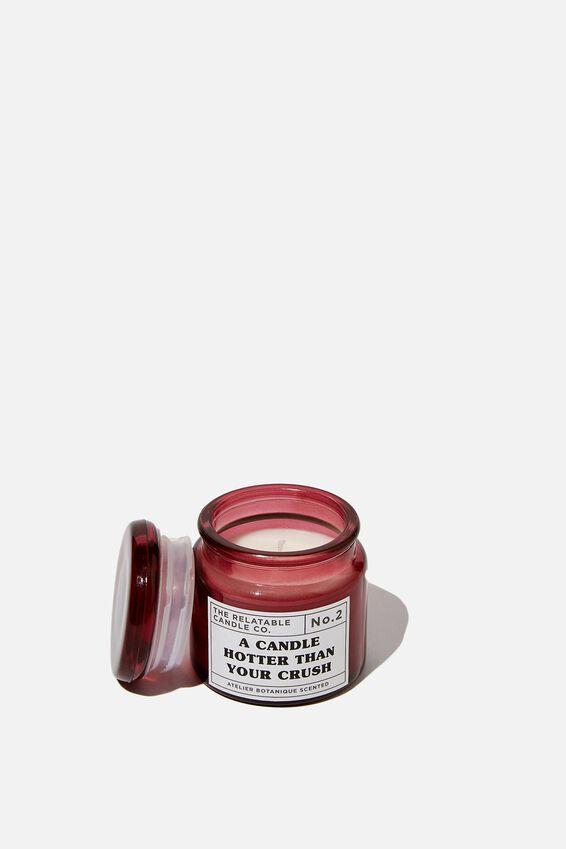 Mini Glass Candle, CRUSH