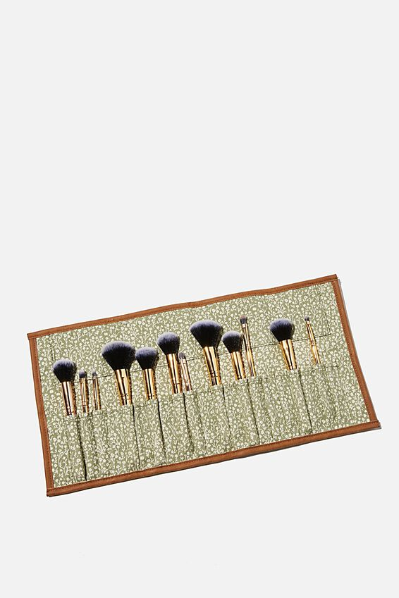 Roll With It Brush Case, GUM LEAF MEADOW DITSY