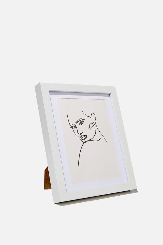 A5 Framed Print, LINE ART MOODY!