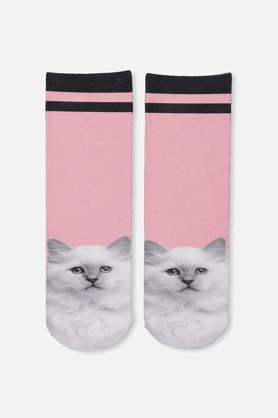 Womens Novelty Socks, DIGITAL CAT