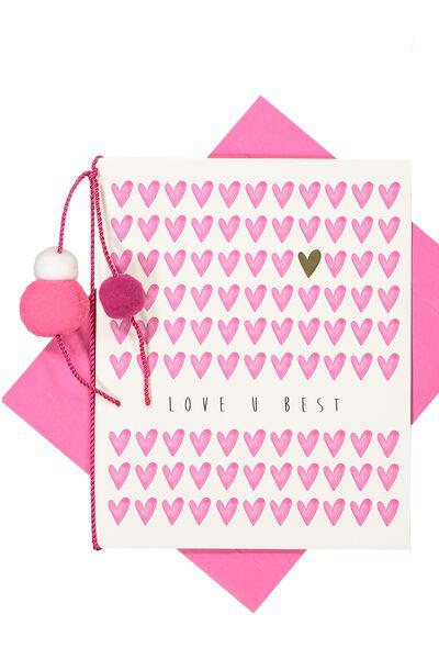 Premium Love Card, ARTIST SERIES LOVE U BEST