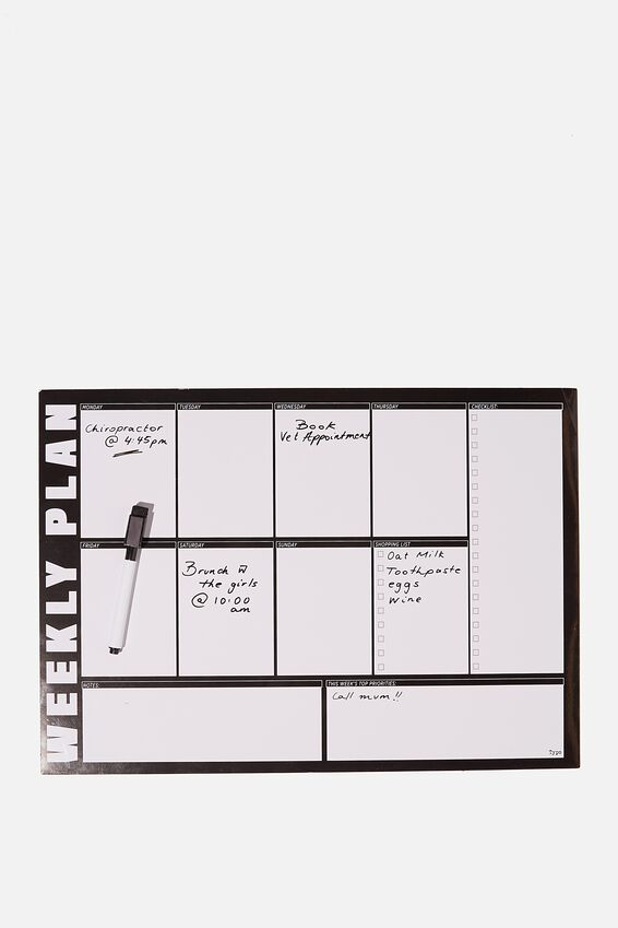 A3 Magnetic Planner, WEEKLY PLAN