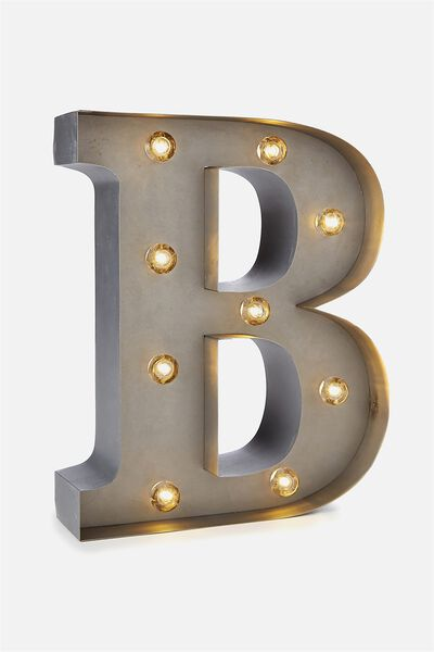 Small Letter Marquee Light, SILVER B