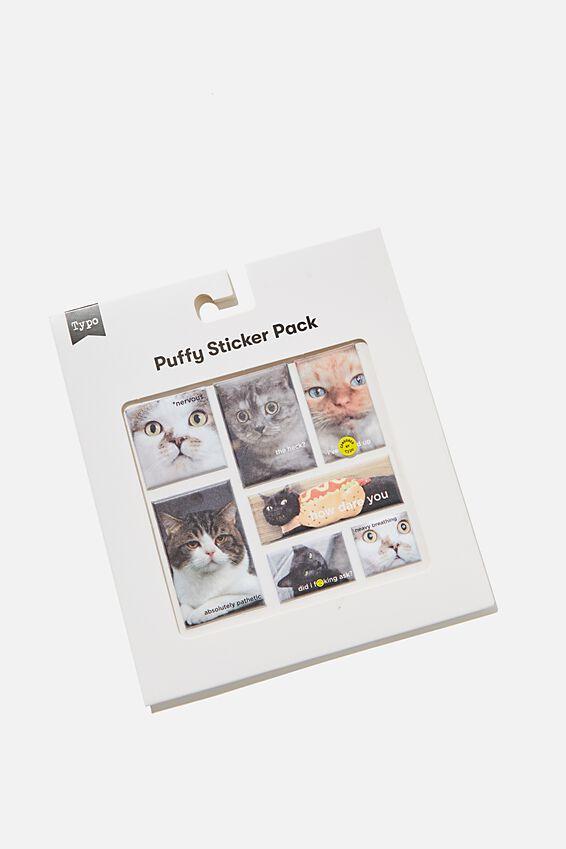 Puffy Sticker Pack, CAT MEMES!!