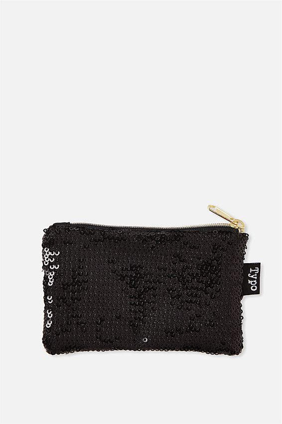 Penny Coin Purse, BLACK