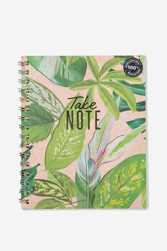 A5 Campus Notebook Recycled, LEAF TAKE NOTE