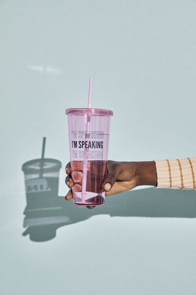 Sipper Smoothie Cup, I M SPEAKING