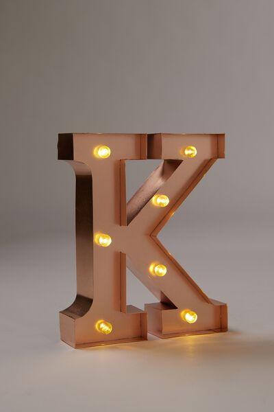 Marquee Letter Lights Premium 16cm Midi, ROSE GOLD K