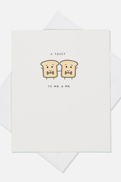 Wedding Card, TOAST MR MR