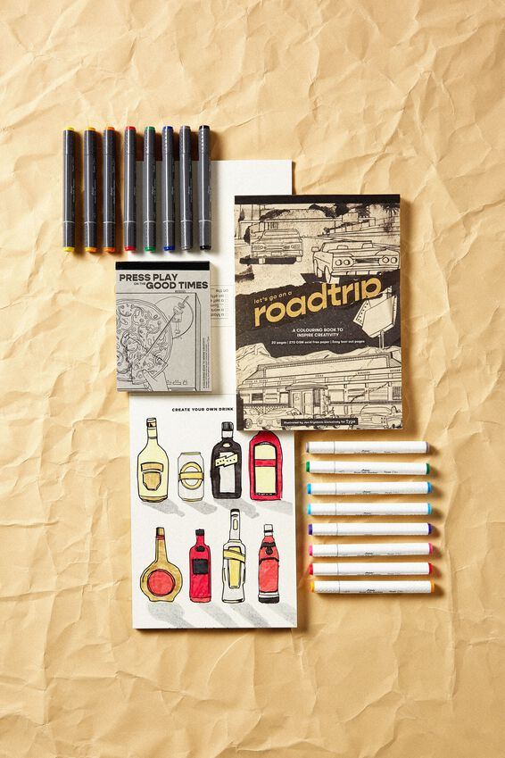 Artists Assistant Colouring In Book, ROAD TRIP