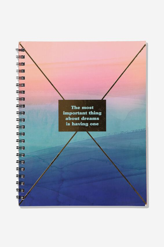 College Ruled Campus Notebook - V, HAVE DREAMS