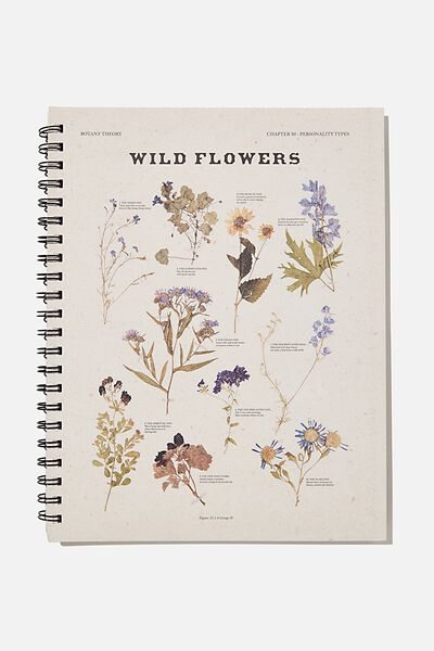 A4 Campus Notebook Recycled, WILDFLOWERS PHOTOGRAPH