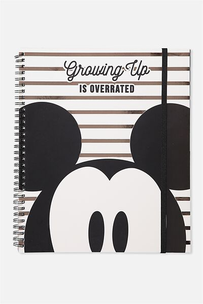 College Ruled Spinout Notebook V, LCN MICKEY GROWING UP