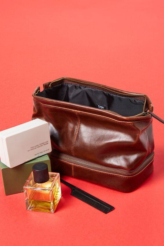 Debonair Wash Bag, RICH TAN