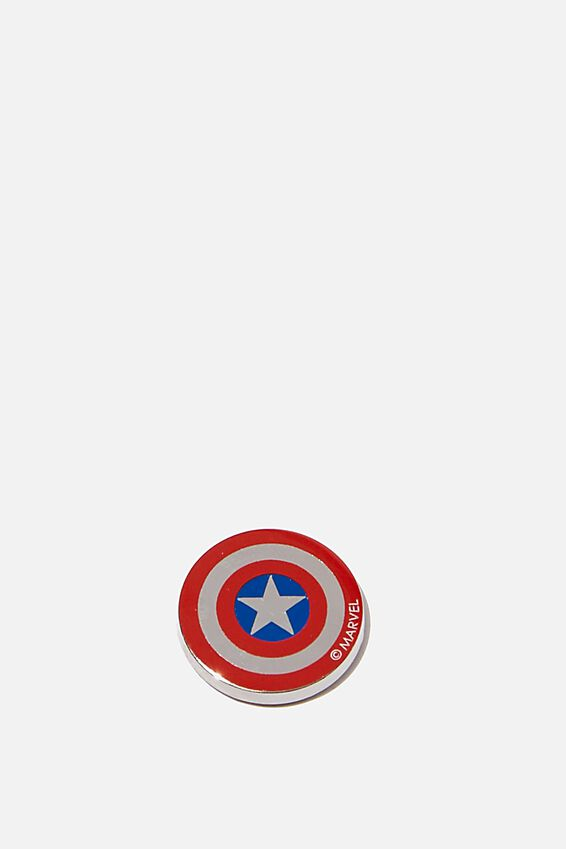 Marvel Enamel Stickers, LCN MARVEL CAPTAIN AMERICA SHIELD