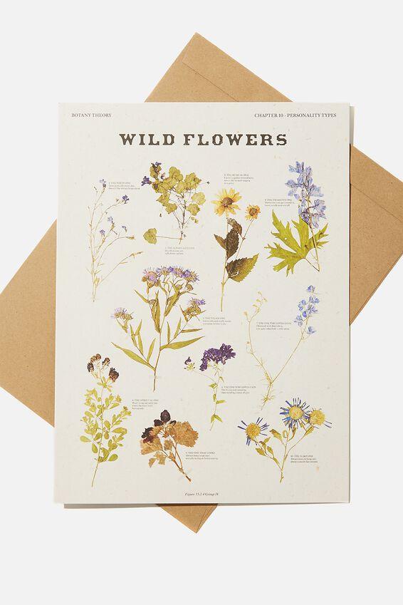 Large Fashion Card, WILDFLOWERS PHOTOGRAPHIC