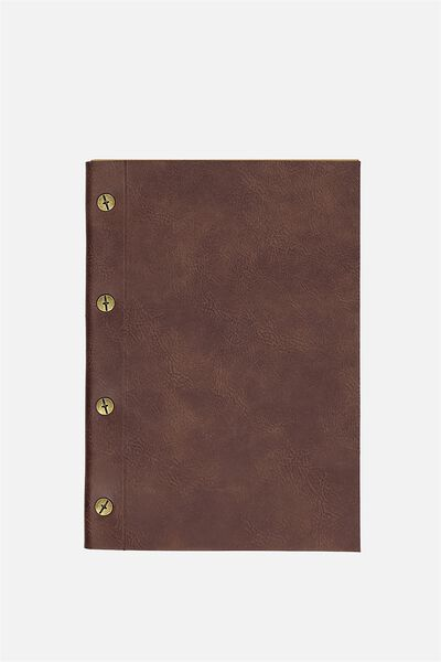 Vintage A5 Notebook, RICH TAN