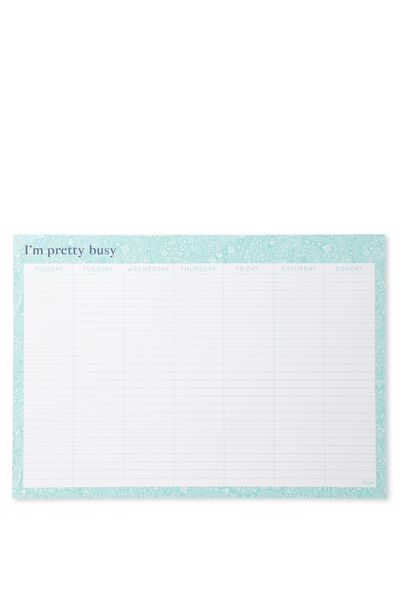 A3 Extra Large Plan Ahead Planner, OMBRE LACE