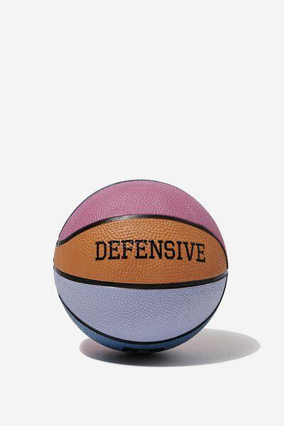 Mini Basketball Size 1, DEFENSIVE RAINBOW
