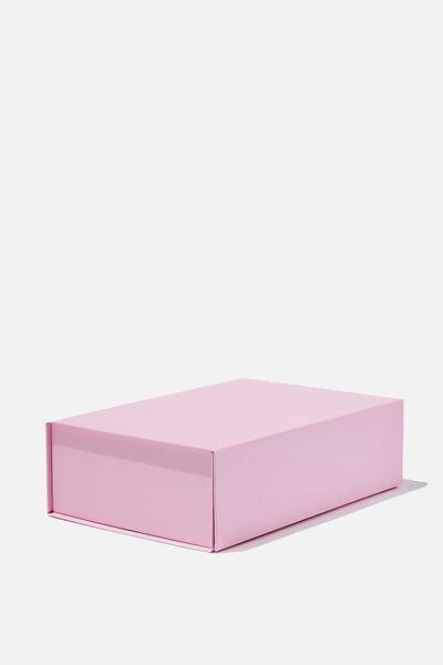Flat Pack Box Medium, PINK CANDY