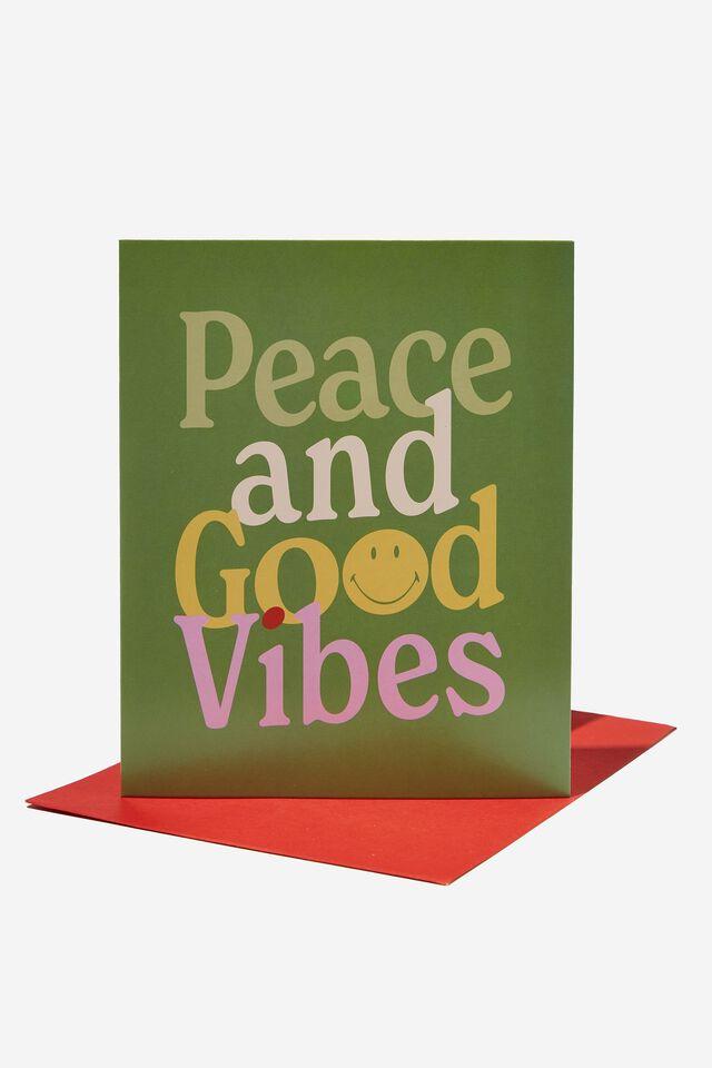 Christmas Card 2021, LCN SMI SMILEY PEACE AND GOOD VIBES