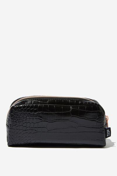 Big Bailey Pencil Case, BLACK CROC