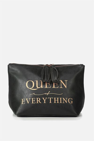 Florence Cosmetic Bag, QUEEN