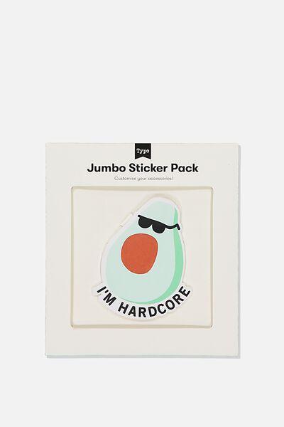 Jumbo Sticker, HARDCORE AVO