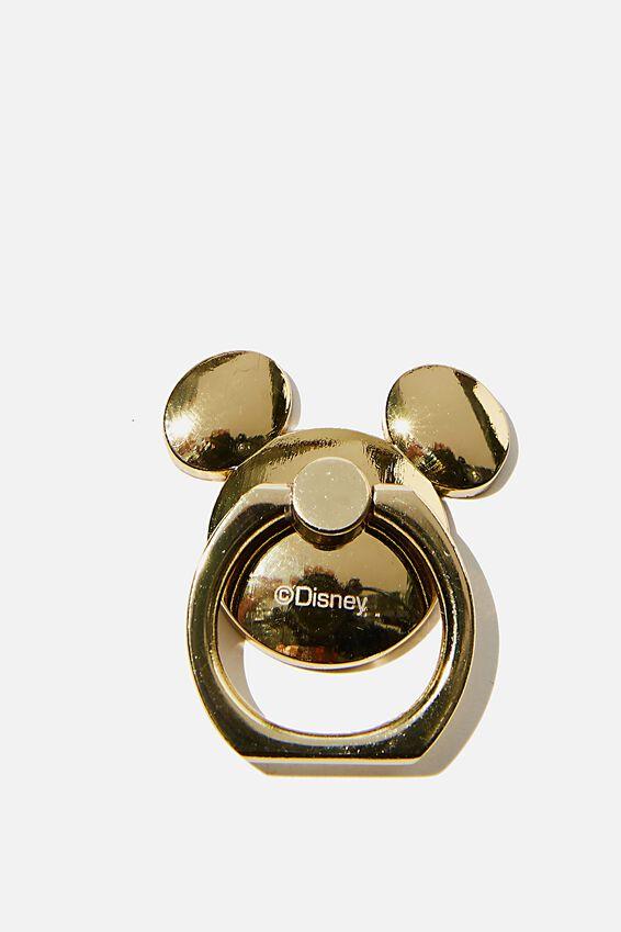 Disney Metal Phone Ring, LCN DIS GOLD MICKEY HEAD