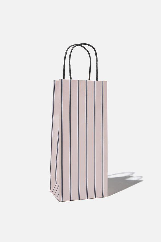 Bottle Gift Bag, JUSTIN STRIPE