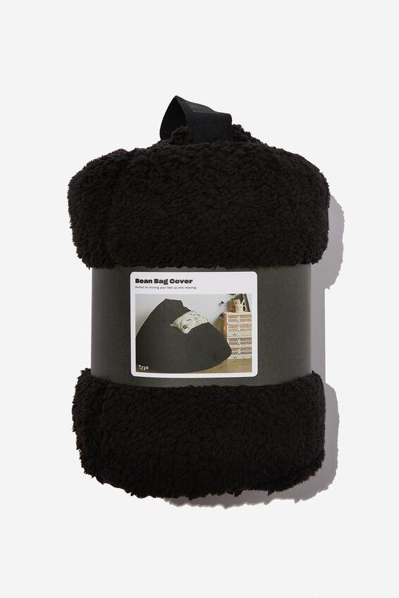 Bean Bag Cover, BLACK SHERPA