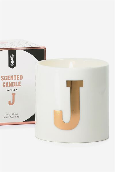 Ceramic Jar Candle, ROSE GOLD J