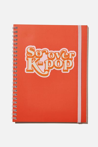 A5 Spinout Notebook Recycled, RETRO K=POP