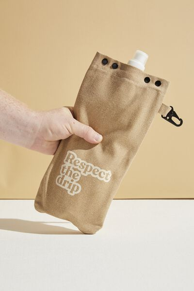 Drip Canvas Flask, DRIFTWOOD RESPECT THE DRIP