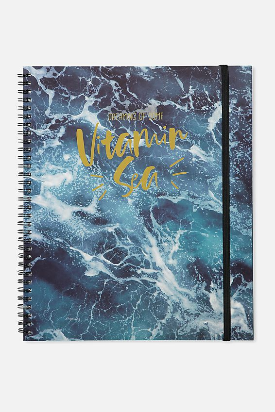College Ruled Spinout Notebook V, WATER VITAMIN SEA