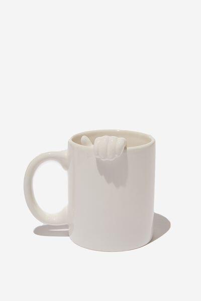 Novelty Shaped Mug, HAND IN MUG