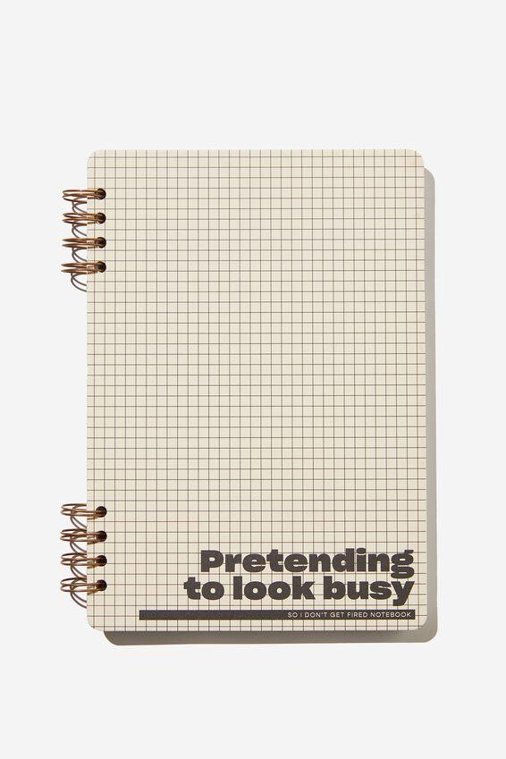 Billie B5 Notebook, GRID PRETENDING TO LOOK BUSY